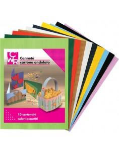 Cartone Ondulato Cannetè CWR - 50x70 cm - Assortiti - 2205 (conf.10)