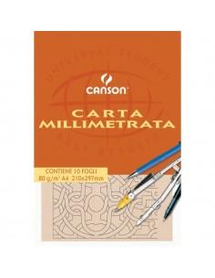 Carta opaca millimetrata Canson - A3 - 80 g/mq - 10ff - C200005824