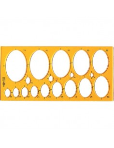 Maschera per ellissi Arda - 31,6x15 cm - 8/75 mm - 7135