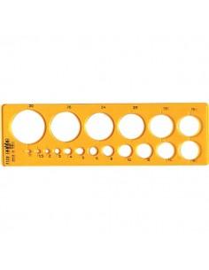 Maschera per cerchi piccoli Arda - 19,3x5,8 cm - 1/30 mm - 7128