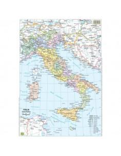 Carte scolastiche da banco Belletti - Italia - 42x29,7 cm - BS01P (conf.20)
