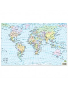 Carte scolastiche da banco Belletti - Mondo - 42x29,7 cm - BS02P (conf.20)