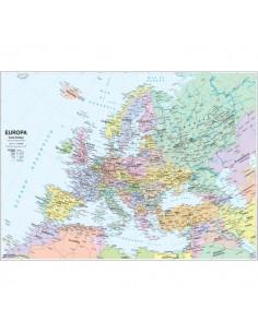 Carta geografica murale fisica e politica EUROPA Belletti - 132x99 cm - MS03PL