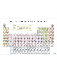 Poster Scientifico Belletti - 97x70 cm - Tavola Periodica degli Elementi - MS36PL