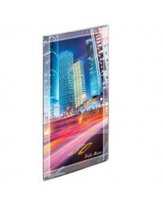 Album foto con copertine flessibili Lebez - 96 buste - 17,5x32,5 cm - assortiti - 2743