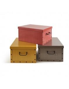 Scatola custodia in cartone Perfetto Più - 40x50x25 cm - quadrettata - 0424A