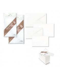Biglietti E Buste Bianche Ellebi Sadoch - Dalmazia - 7,5x11 cm - Bianco - 8034 (conf.10)