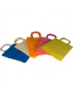Borse in carta colorata Rex Sadoch - ass. pastello - 36x12x41 cm - tinta unita - SDF36-LIT (conf.25)