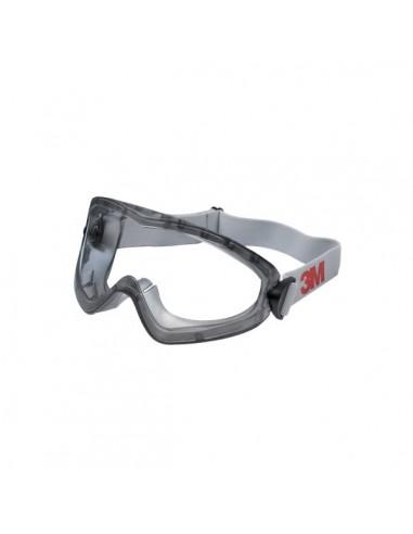 Occhiali a mascherina di protezione 3M 2890, ventilazione indiretta, lente trasparente in PC (AS/AF) - 7000032480