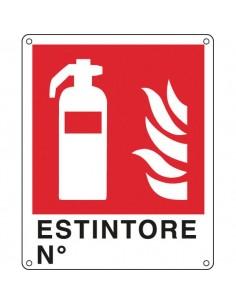Cartelli segnaletici divieto - Antincendio - estintore n° - 250x310 mm - E20150X