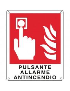 Cartelli segnaletici divieto - pulsante allarme antincendio - 250x310 mm - E20174X