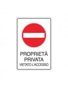 Cartelli segnaletici divieto - vietato l'accesso proprietà privata - 300x450 mm - 5613X