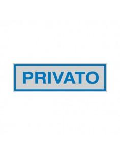 Cartelli segnaletici adesivi Cartelli Segnalatori - 165x50 mm - privato - 96698 (conf.10)