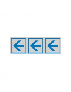 Cartelli segnaletici adesivi Cartelli Segnalatori - 165x50 mm - frecce direzionali - 96600 (conf.10)