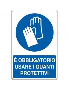 Cartelli segnaletici obbligo - usare i guanti protettivi - E1904X