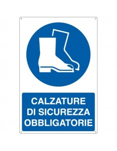 Cartelli segnaletici obbligo - calzature di sicurezza obbligatorie - E1905X