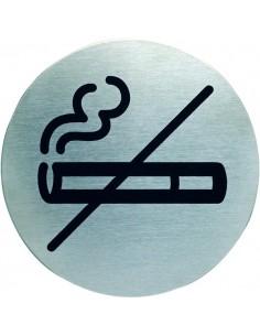 Pittogramma in acciaio Durable rotondo - area non fumatori - Ø 83 mm - 4911-23