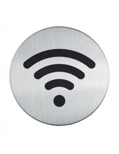 Pittogrammi in acciaio Durable - rotondo Ø 83 mm - WiFi - 4785-23