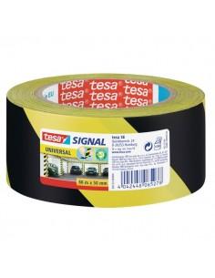 Nastro segnaletico Tesa - giallo/nero - 50mmx66m - 58133-00000-00