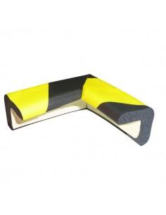 Protezioni Segnaletiche Viso - Rettangolare Angolare - Giallo/Nero - 3x3cm L7x7 cm - PU30NJ
