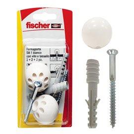 Fissaggio ferma porta Fischer - S 8 TS - bianco - 504638 (conf.2)