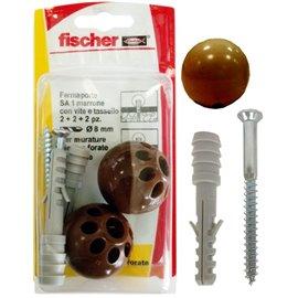 Fissaggio ferma porta Fischer - S 8 TS - marrone - 504639 (conf.2)