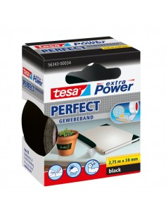 Nastro telato extra power Tesa - 38 x 2,75 m - nero - 56343-00034-03