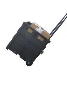 Cassetta pieghevole portatile Viso - nero - TROLLEYGP