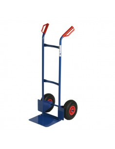 Carrello portacasse con ruote pneumatiche RelX - blu - 117x49x51 cm - 200 kg - HT200