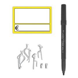 Kit segnaprezzi Rotolificio Pugliese - 95x65 mm - giallo - SEGN02GBL (conf.10)