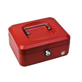 Cassetta portavalori 5 Star - 16x20x9 cm - rosso - 918907