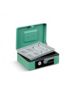 Cassetta portavalori Deluxe - 230x185x80 mm - verde - 3414VE