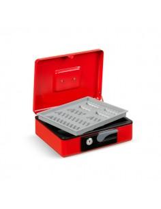 Cassetta portavalori Deluxe - 300x230x80 mm - rosso - 3415RO