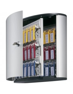 Cassetta portachiavi Key box Code Durable argento met. - 30,2x28x11,8 cm - 36 posti - 1952-23