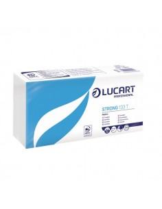 Tovaglioli bianchi in carta Lucart - 33x33 cm - 1 velo - 831001 (conf.200)