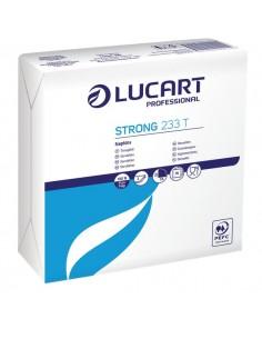 Tovaglioli bianchi in carta Lucart - 33x33 cm - 2 veli - 832001 (conf.75)