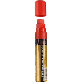 Pennarelli a gesso liquido Securit - 7-18 mm - rosso - SMA720-RD