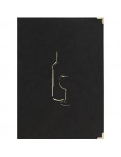 Carta dei vini Securit - A4 - nero - MC-CRWC-BL