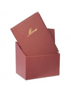 Portamenù Securit - bordeaux - Box portamenù - A4 - MC-BOX-CRA4-WR (conf.20)