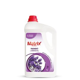 Detergente per pavimenti Matrix - profumazione lavanda selvatica - 5 kg - XM005