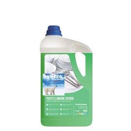 Detergente piatti a mano Limone Verde Sanitec - 5 Kg - 1240