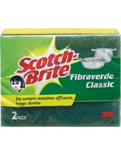 Spugna per stoviglie Scotch-Brite® - gialla/verde - 130x75x40 mm - 50499/50483 (conf.2)