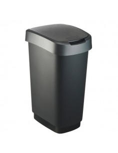 Cestino basculante Rotho - 40,1x29,8x60,2 cm - nero/grigio - F600029