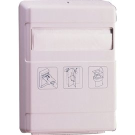 Distributore veline copriwater QTS - 21,5x29,5x5,5cm - 4039/NOB