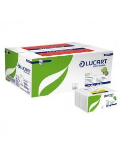 Asciugamani intercalati Lucart - Z - 2 veli - carta ecologica - 23x23,5 cm - 864014 (conf.18)