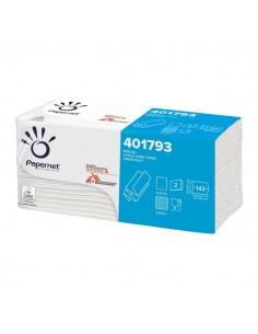 Asciugamani interfogliati Papernet - Superior - Z - 2 - pura cellulosa - 23x23,5 cm - 401793 (conf.20)