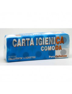 Carta igienica Lucart - Pura cellulosa - 2 veli - 155 strappi - 811553 (conf.10)