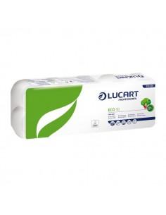 Carta igienica Lucart - Carta ecologica - 2 veli - 200 strappi - 811438u (conf.10)
