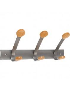 Appendiabiti da parete Duo e Trio Alba - 6 appendini - 36x15x22 cm - PMV3