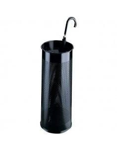 Portaombrelli in metallo traforato Durable - nero - Ø 26 H 62 cm - 3350-01